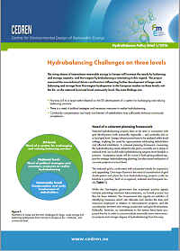 CEDREN-HydroBalance-policy brief 1-2016 Hydrobalancing challenges on three levels