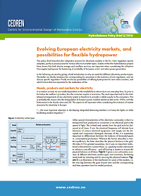 HydroBalance Policy Brief-CEDREN-Evolving European electricity markets, and possibilities for flexible hydropower